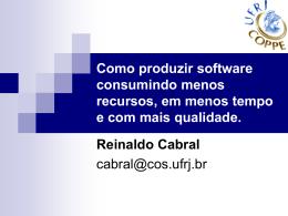 Como produzir software consumindo menos recursos - Sefaz-AL