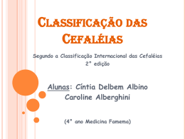 Classificação Internacional de Cefaleias