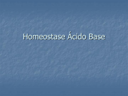 Homeostase Ácido Base