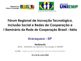 Regiões de Governo de Rio Claro, São Carlos e Araraquara