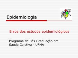 Epidemiologia - programa de pós-graduação em saúde coletiva/ccbs