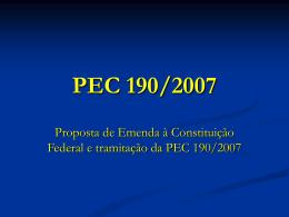 PEC 190/2007