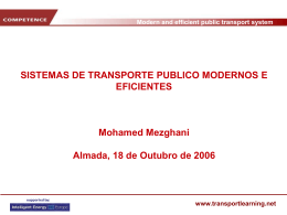 Modern and efficient public transport system www.transportlearning