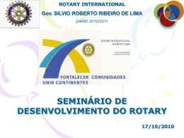 ROTARY INTERNATIONAL Gov. SILVIO ROBERTO