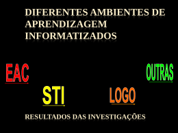 DIFERENTES AMBIENTES DE APRENDIZAGEM