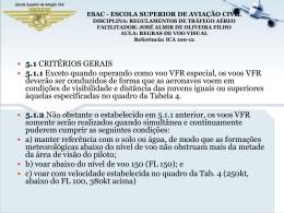 regras de vôo visual