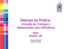 inclusão de crianças e adolescentes com deficiência