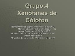 Xenófanes de Cólofon