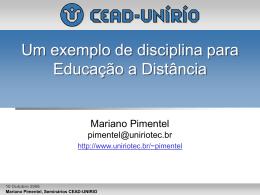 20061010.CEADUNIRIO.Pimentel.DisciplinaOnline