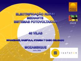 sistema fotovoltaico para electrificação rural