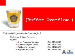 Buffer Overflow Baseado em Pilha