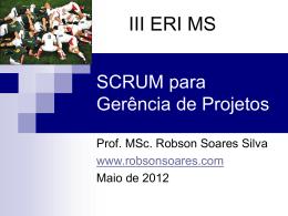 SCRUM para Gerência de Projetos 2012