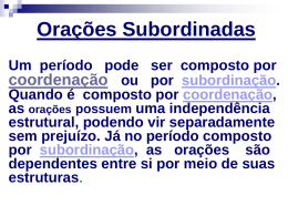 Oraes Subordinadas