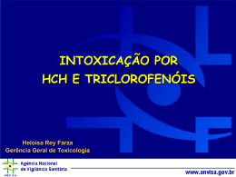 Intoxicação por HCH e Triclorofenóis