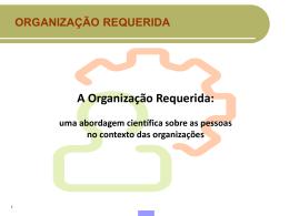 Organização Requrida - Adriana Matta