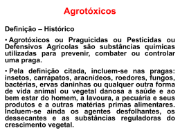 Agrotóxicos - Regina Lima