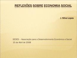 O Conceito de Economia Social