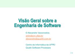 Apresentação - Introdução à Engenharia de Software - Sefaz-AL