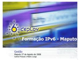 Gestão - Formação IPv6