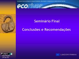 Seminário Final Conclusões e Recomendações