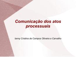 comunicações processuais