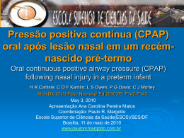 Oral continuous positive airway pressure (CPAP) following nasal