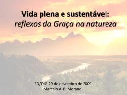 29/11/2009 - Marcelo Morandi - Reflexos da Graça na Natureza