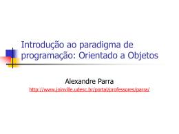 Introdução a Orientação a Objetos (OO)