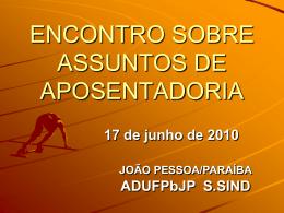 ENCONTRO SOBRE ASSUNTOS DE APOSENTADORIA