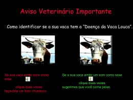 teste da vaca louca