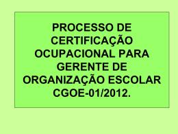 Certificação Ocupacional GOE