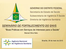 Apresentação de Manoel Neto (Visa – DF)