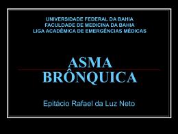 ASMA BRÔNQUICA - LAEME - Universidade Federal da Bahia