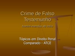 Aula_Falso_Testemunho - Acadêmico de Direito da FGV
