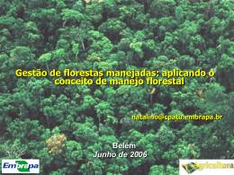 Gestão de Florestas Manejadas