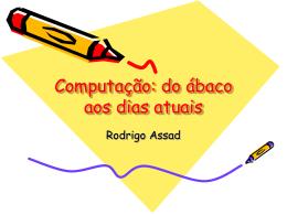 Computação: do ábaco aos dias atuais