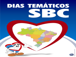 DIAS TEMÁTICOS - Sociedade Brasileira de Cardiologia