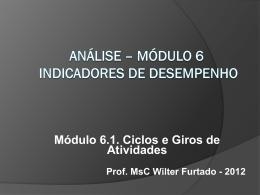 Módulo 6.1 - Indicadores de Desempenho - Ciclos e Giros