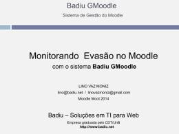 Apresentação da Palestra no Moodle Moot 2014