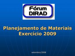 Apresentação - Fórum Planejamento de Materiais