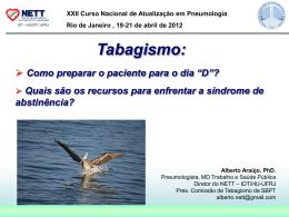 Tabagismo: preparando o paciente para o dia D