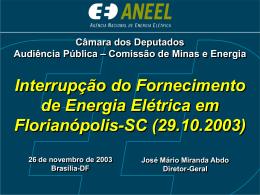 Interrupção do Fornecimento de Energia Elétrica em Florianópolis