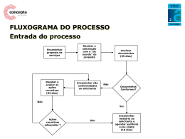 FLUXOGRAMA DO PROCESSO Comitê de Certificação e Ética