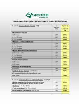 Pacote de taxas 2009 (Clique aqui)
