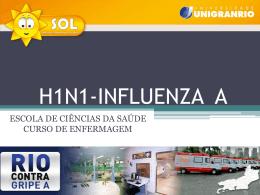 Distribuição dos casos confirmados de Influenza A (H1N1)