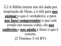 2 Timóteo 3:16 BV