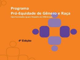 Apresentação: Programa Pró-Equidade de Gênero e Raça