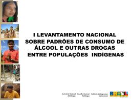 Consumo de álcool nas comunidades indígenas – apresentação