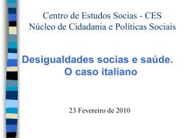 Conteúdos do curso - Centro de Estudos Sociais