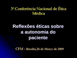 Dr. José Siqueira - Reflexões éticas sobre a autonomia do paciente